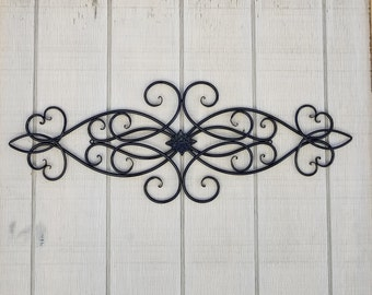 Iron Wall Decor / Metal Wall Decor / Cabin Decor / Iron Scroll / Wrought Iron  Decor / Swirls / Metal Home Decor / Black Decor / Headboard
