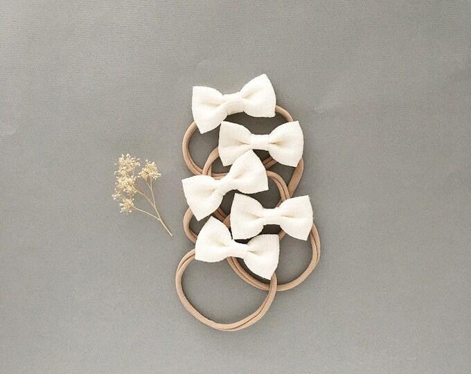 Featured listing image: Headband- Dainty Headband | Cream Dainty Bow