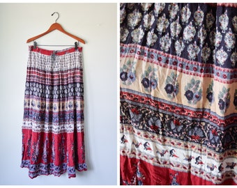 Vintage Indian gauze maxi skirt | Fits many