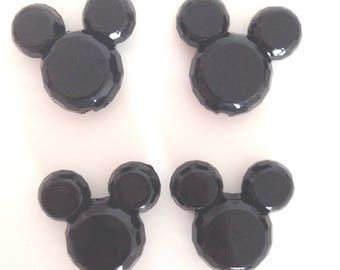 Pearl acrylic black mickey head