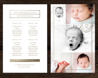 Photography Marketing - Photography Pricing Template - Gold and Glitter - Newborn Photographer Investment Guide