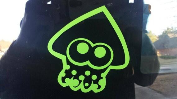 Splatoon squid vinyl sticker inspired by nintendos splatoon