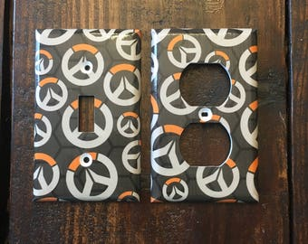 Overwatch Logo Light Switch And Other Style Covers | Video Game Art - Gamer Gift - Over Watch - Gifts - Room Decor - Man Cave - Kid Decor