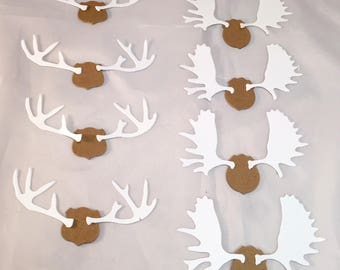 Tim Holtz Die Cuts *  Antlers * Eight Sets of Antlers * Two Designs * 4 of Each Design * Chipboard Mounting Base with Cardstock Antlers!