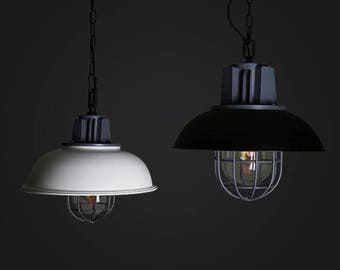 Bowl Cage Pendant - hanging lamp - ceiling lighting - pendant lamp - edison bulb - industrial style - vintage lamp  - Edison bulb lamp