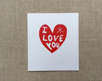 Love You Too! Card
