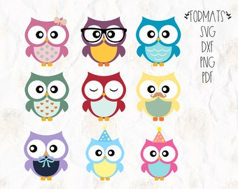 Owl, birds, party theme SVG (layered), PNG, DXF for cricut, silhouette studio, vinyl decal, t shirt design, scrapbooking, cutting machines