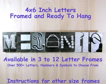 Personalized Alphabet Name Art, First Name Art Sign, Alphabet Letter Name, Alphabet Photography, Rustic Home Decor,Letter Pictures,Last Name