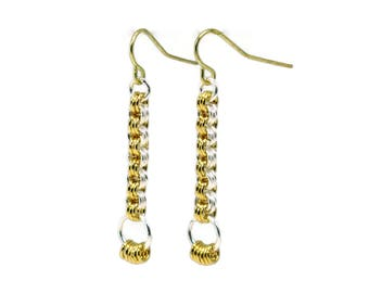 Instant Download | Striped Pillar Earrings | Chainmaille GutsyGuide for Mastering the Basics Course