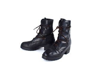 Unique Lacer Ankle Boots by Zodiac, Size 9 1/2, Lace Up Ankle Boots