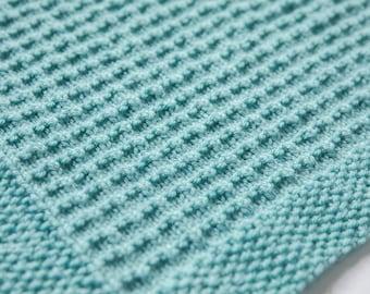 Textured Baby Blanket Knitting Pattern