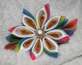 Unicorn Kanzashi Flower