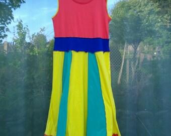 Upcycled Clothing/Dress/Recycled/EcoWear/Summer/Festival Clothing/BeachWear/Holiday/Boho Clothing/Women's Clothing/OOAK/Pride