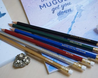 Magic Spells Pencil Set — Potterhead inspired back to school gift