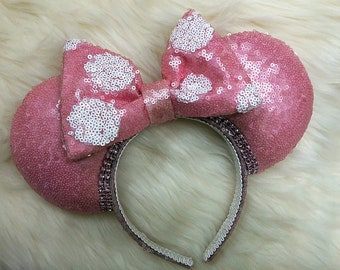 Pink Sequin Minnie Ears