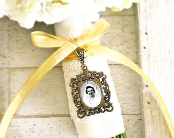 Charme de bouquet, mariage charme, charme de Bouquet de mariée, charme de Bouquet de mariage personnalisé, Memorial charme, Photo charme, charme de la mémoire, cadeau de la mariée