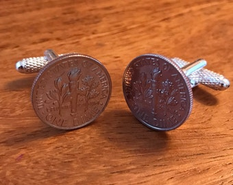 USA Dime/10c Coin Cufflinks