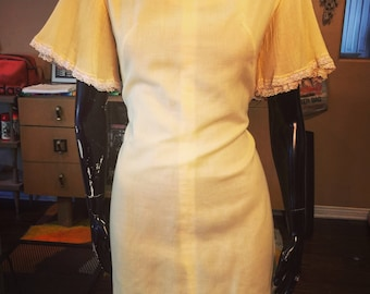Vintage Yellow Mod Dress