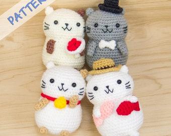 Cat Crochet Patterns Set - Amigurumi Cat Pattern - Cat Plush Pattern - Cat Stuffed Animal Pattern - Cat lover gift - Cat plush pdf
