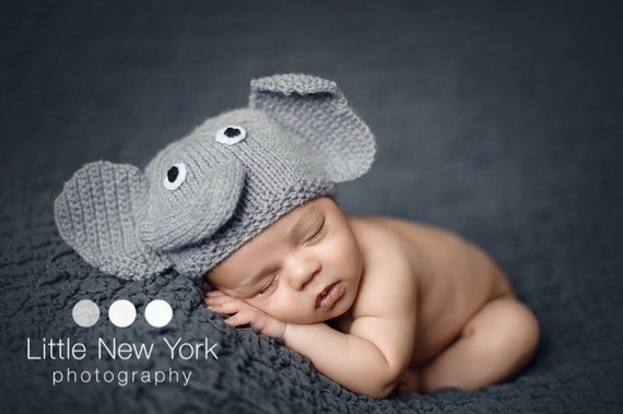 Newborn photo prop elephant newborn baby hat newborn boy