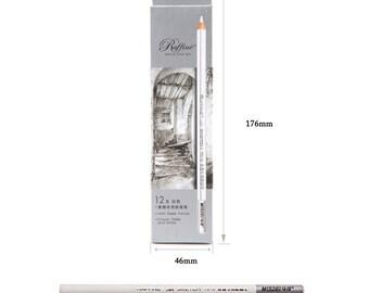 12pc Artist Pastel White Pencils Crayon Drawing Charcoal Sketch Pastel Chalk