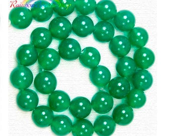 Natural Green Agate beads, Gemstone Beads, 4mm 6mm 8mm 10mm 12mm , Round Natural Beads, Stone Spacer Beads, 15''5 strend