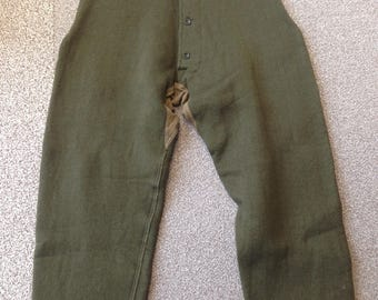 Vintage Military Wool Inner Trousers Leicester 1950s