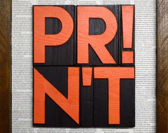 PRINT - what it used to be - typographic art - painting
