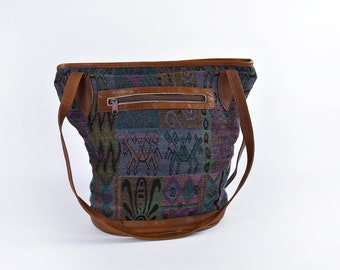 Kilim Tapestry and Leather Purse