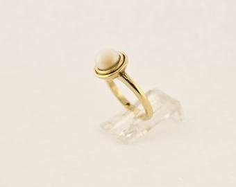 Akoya Pearl Ring in Yellow Gold