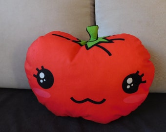 food pillow, tomato pillow, vegetable pillow, food plush, kawaii pillow