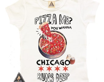 CHICAGO BABY Pizza Deep Dish, You Wanna Piece of Me Kids Tee / CHICAGO baby / City shirt / Chicago kids shirt / chicago pizza shirt