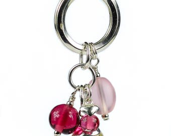 925 Sterling Silver 'Love' Key Ring
