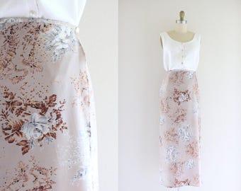 dusty violet wrap skirt - s/m