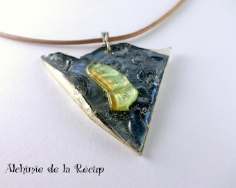 CD and DVD recycled eco-friendly necklace