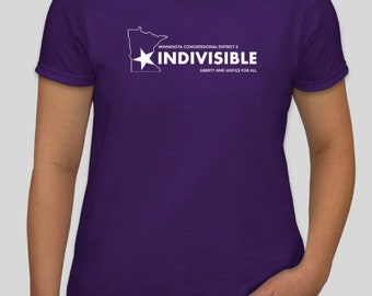 """Women's Indivisible """"Be a voter"""" tee"""