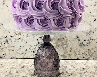 Purple Cake Stand, Wedding Cake Stand, Tea Party Cake Stand, Cupcake Stand, Purple Cake Pedestal, Purple Cupcake Pedestal, Purple Wedding