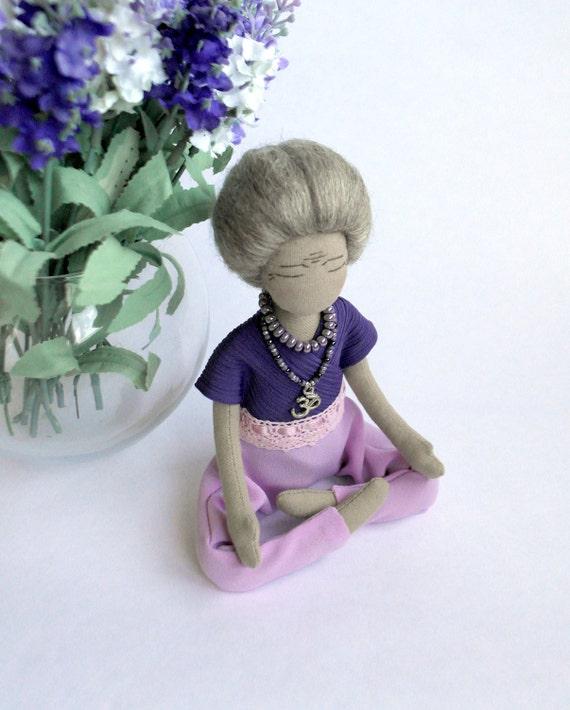 Cloth Doll Custom Doll Personalized Rag Doll Old Woman Yoga