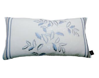 Blue Embroidered Robert Allen Bella Stripe Dove Blue