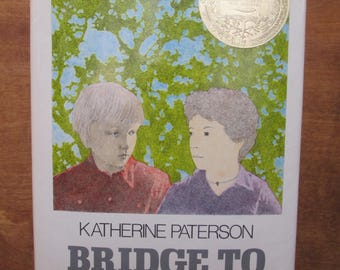 1977 BRIDGE TO TERABITHIA, First Edition, Hardcover, Katherine Paterson, Ex-Libris, Newberry Award Winner
