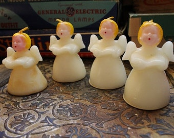 1940's era Tavern Novelty Singing Angel Christmas Candles in Original Advertising Box