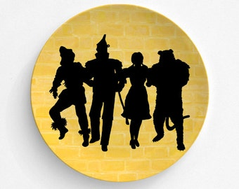 Melamine Plate Wizard Of Oz Plate - Oz Yellow Brick Road - Dorothy Tin Man - Wizard Of Oz Art - Off To See The Wizard,  Oz Home Dining Decor