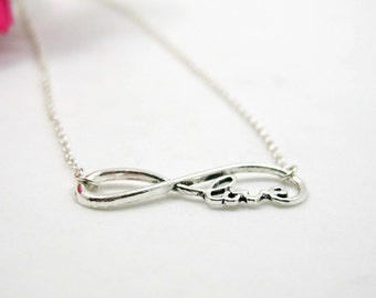 Infinity Love Necklace - Charm Necklace - Infinity Love Pendant - Infinity Love Charm - Infinity Necklace - Infinity Jewelry - Forever Love