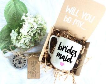 Bridesmaid Box Gift - Will You Be My Bridesmaid - Bridesmaid Proposal - Gift for Bridesmaid - Bridesmaid Gifts - Bridesmaid Mug