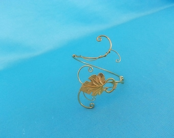 Ivy leaf GOLD wedding handfasting cuff bracelet vine larp Elven