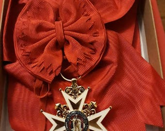 The insignia of Grand Cross of the order of St. Louis and cord