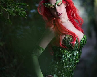 Poison Ivy Batman Hero movie inspired costume  sc 1 st  Etsy : poison ivy character costume  - Germanpascual.Com