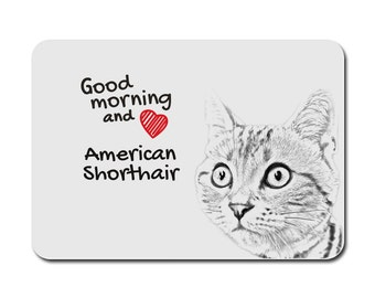 American shorthair, A mouse pad with the image of a cat. Collection!