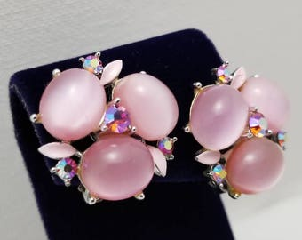LISNER Pink Cab Earrings