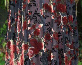 Pure silk devore velvet one size jacket